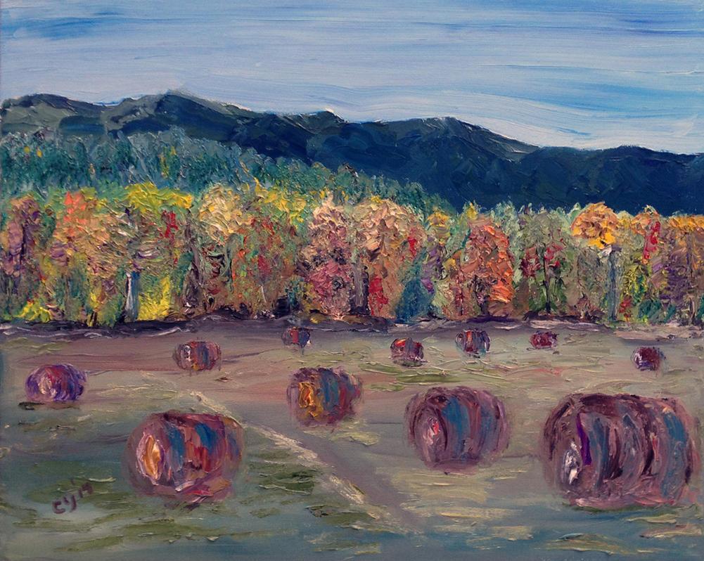 Haystacks by CarolynYM