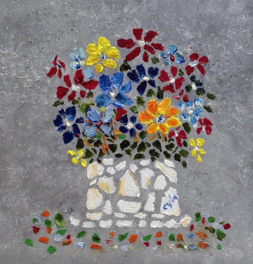 Mosaic Art in Oil by CarolynYM
