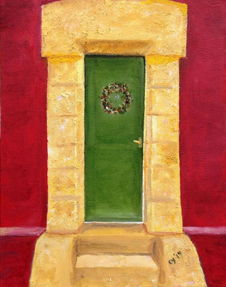 Green Door by CarolynYM
