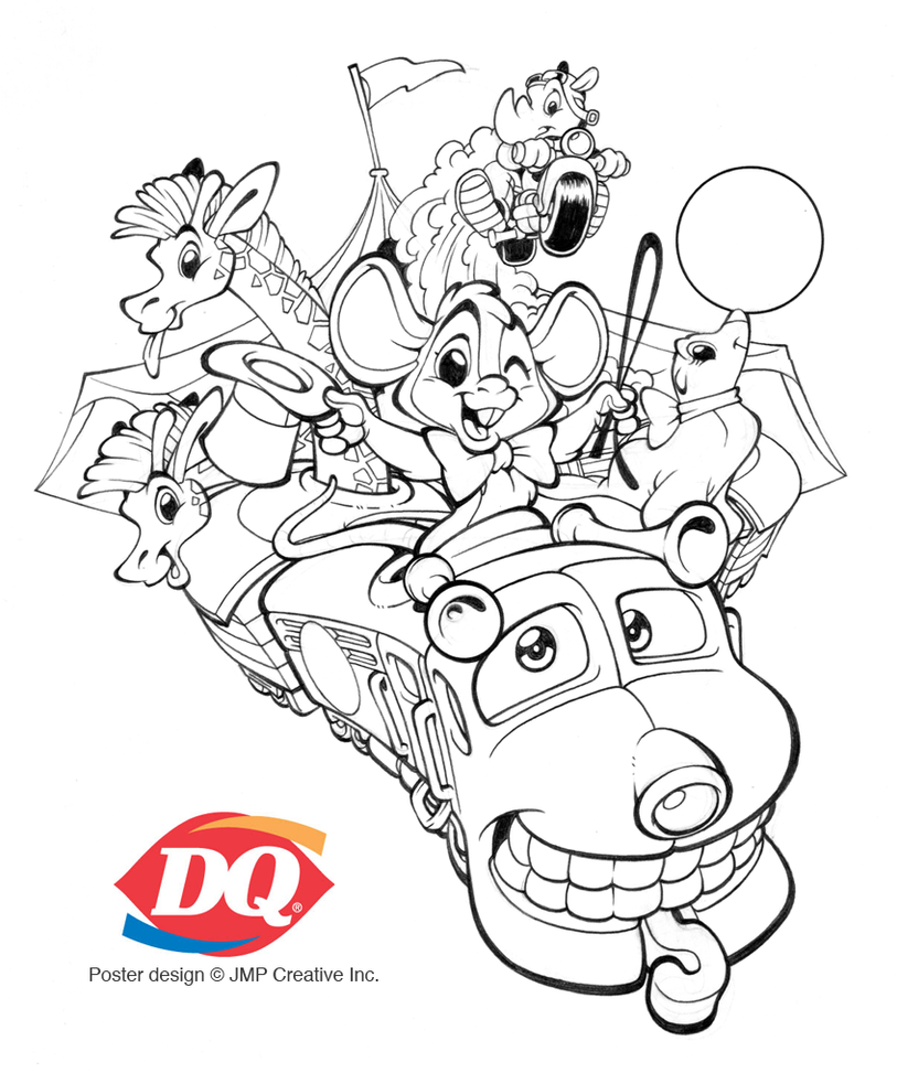 Dairy Queen Blizzard Color Pages