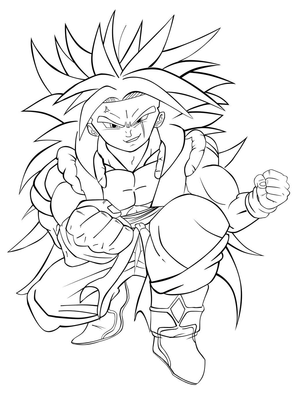 broly coloring pages - photo#33