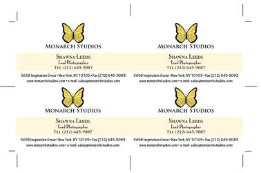 Monarch Studios Business Card