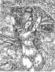 Poison Ivy pencil by harrybognot