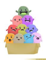 Cute Monsters by itshoax