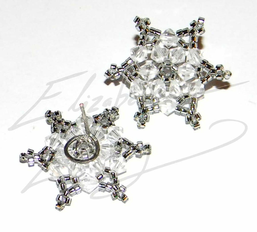swarovski snowflake earrings shining swarovski snowflake post earrings by 7023