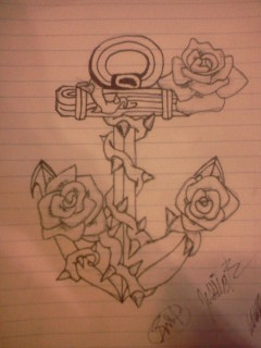 3edcafc42 Anchor rose tattoo design by BitterDarkAngel on DeviantArt