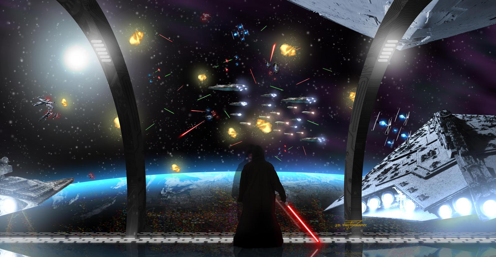 Star Wars Space Battle by Einon-Y on DeviantArt