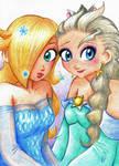 Rosey and Elsa Costume Swap