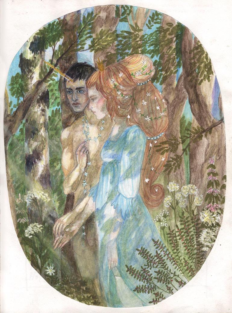 princess Titmouse and prince Unicorn by cuckoo-koo-koo
