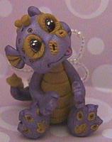 Polymer clay ooak dragon Raine by crazylittlecritters