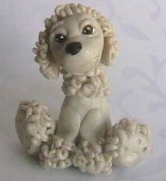 polymer clay poodle by crazylittlecritters