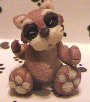 polymer clay racoon ricky by crazylittlecritters