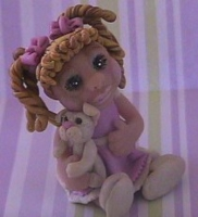 polymer clay little girl chels by crazylittlecritters