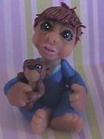polymer clay little boy josh by crazylittlecritters