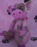 polymer clay piggi pinkie by crazylittlecritters
