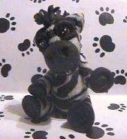 polymer clay zebra zack by crazylittlecritters