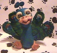 polymer clay peacock bella by crazylittlecritters