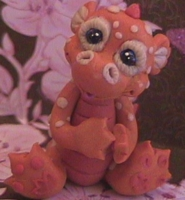 polymer clay dragon tanger by crazylittlecritters