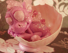 polymer clay dragon rosalie by crazylittlecritters