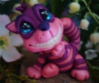 polymer clay chesire cat by crazylittlecritters