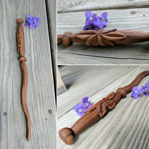 Delicate Flower Wand by Chiropterix-esque
