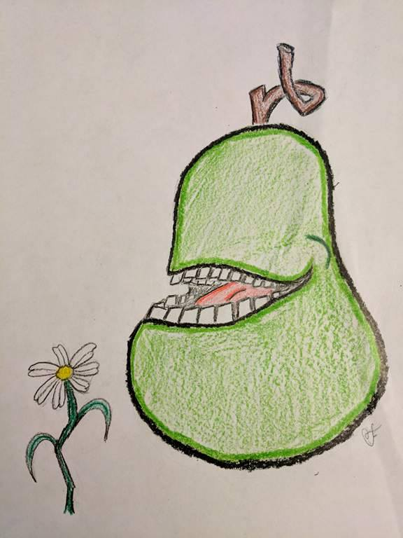 The Biting Pear Who Wanted to Die by Chiropterix-esque