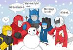 Autobot snowman