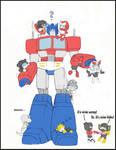 Optimus and chibis