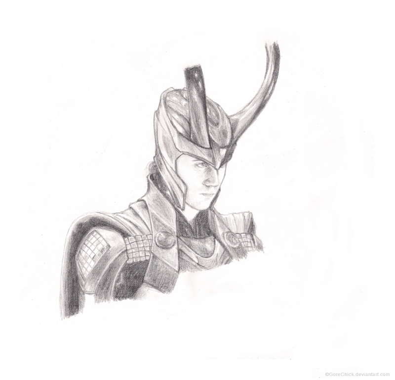Loki sketch by GoreChick