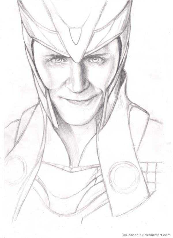 Loki Odinson portrait by GoreChick