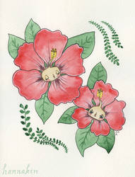 Hibiscus Babies by Hannakin