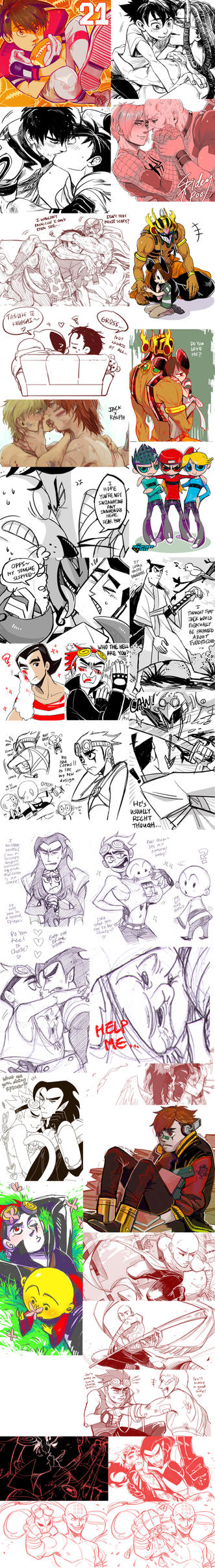 +RANDOM JUNK+ (WARNING CONTAINS YAOI) by C2ndy2c1d