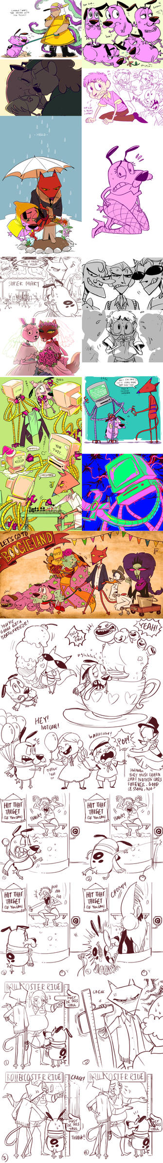 +COURAGE THE COWARDLY DOG JUNK+ by C2ndy2c1d