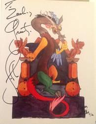 Autographed Discord by John De Launcie! by ZDForrest