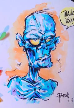 Zombie thank you note