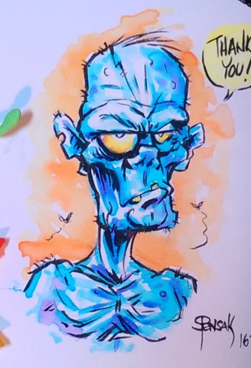 Zombie thank you note by JollyGorilla