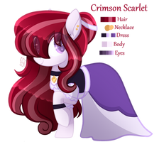 Crimson Scarlet - Mlp Oc