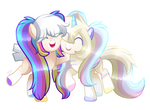 MLP Commission - Funfetti and Angel Cake