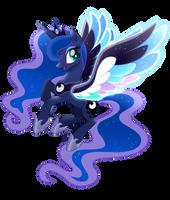 Princess Luna Rainbow Wings - Mlp (Vector) by SugaryIceCreamMlp