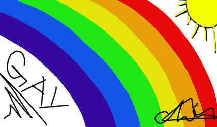 Pride Flag (first digital 'painting') by chevaun99