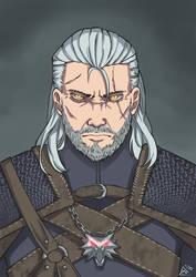 Geralt of Rivia by MariosDamakotto