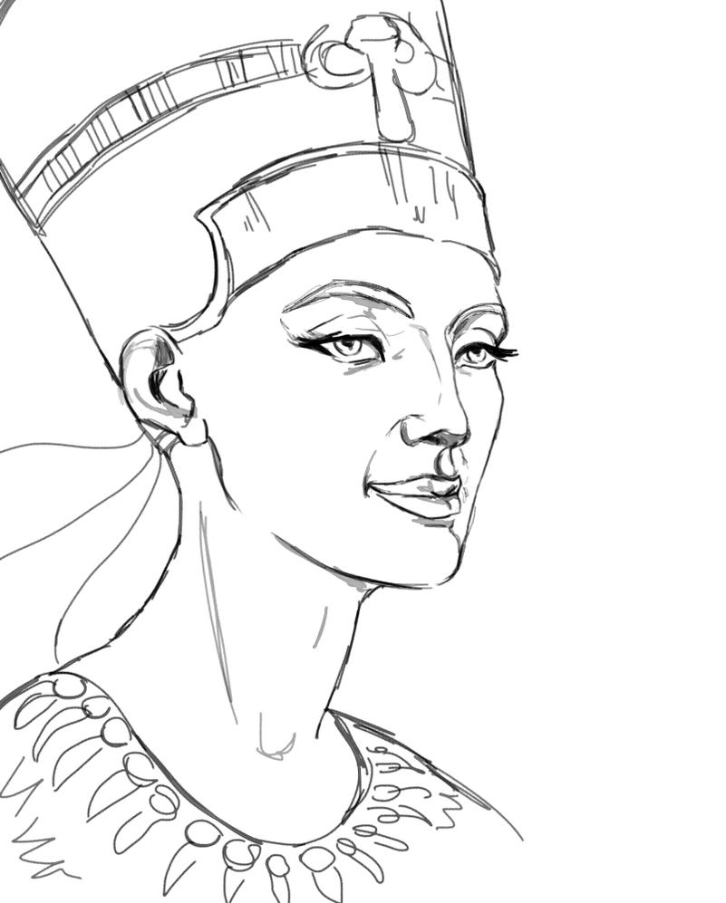 egyptian queen drawing - photo #24