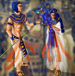 Tutankhamon and Ankhesenamon by ElychazTut97