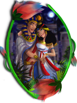 Pharaoh and his wife-Disney style character. by ElychazTut97