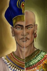 Akhenaton And Semenkhara by ElychazTut97