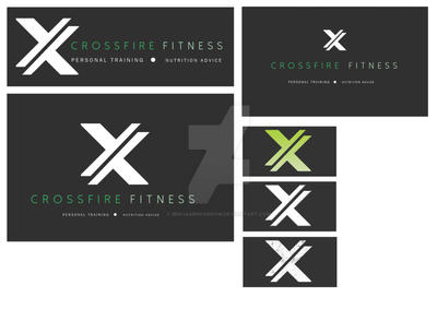 Crossfire Fitness Logo (Initial Mock/Concepts) by BenjaminSorrow