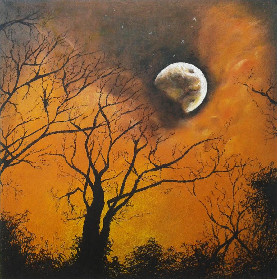 Moon #1 by MaryAliceArt