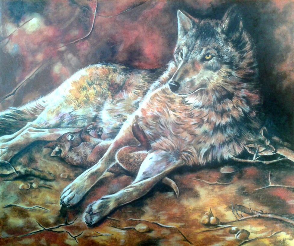 Wolves by MaryAliceArt