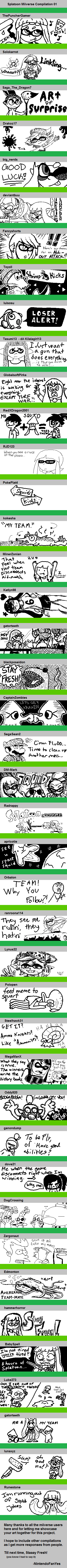 Splatoon Miiverse Compilation 01 by NintendoFanYes