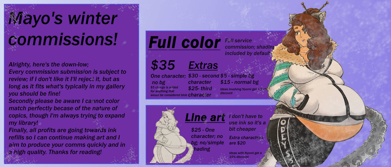 Mayo's winter commissions! [Closed]